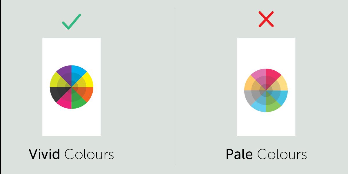 vivid colour to improve user interface design