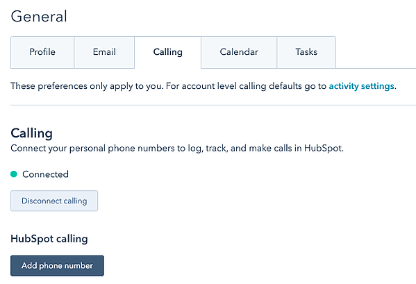 Connect phone to HubSpot