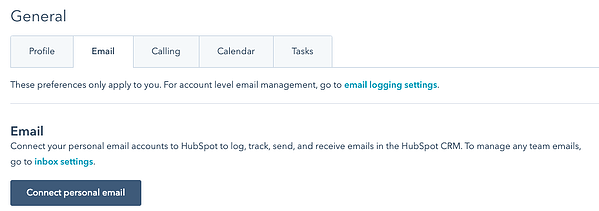 Connect email to HubSpot