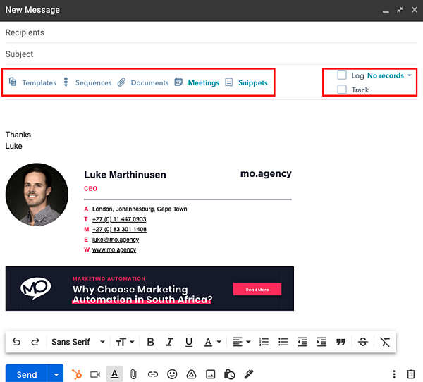 HubSpot Sales Hub Email Tracking