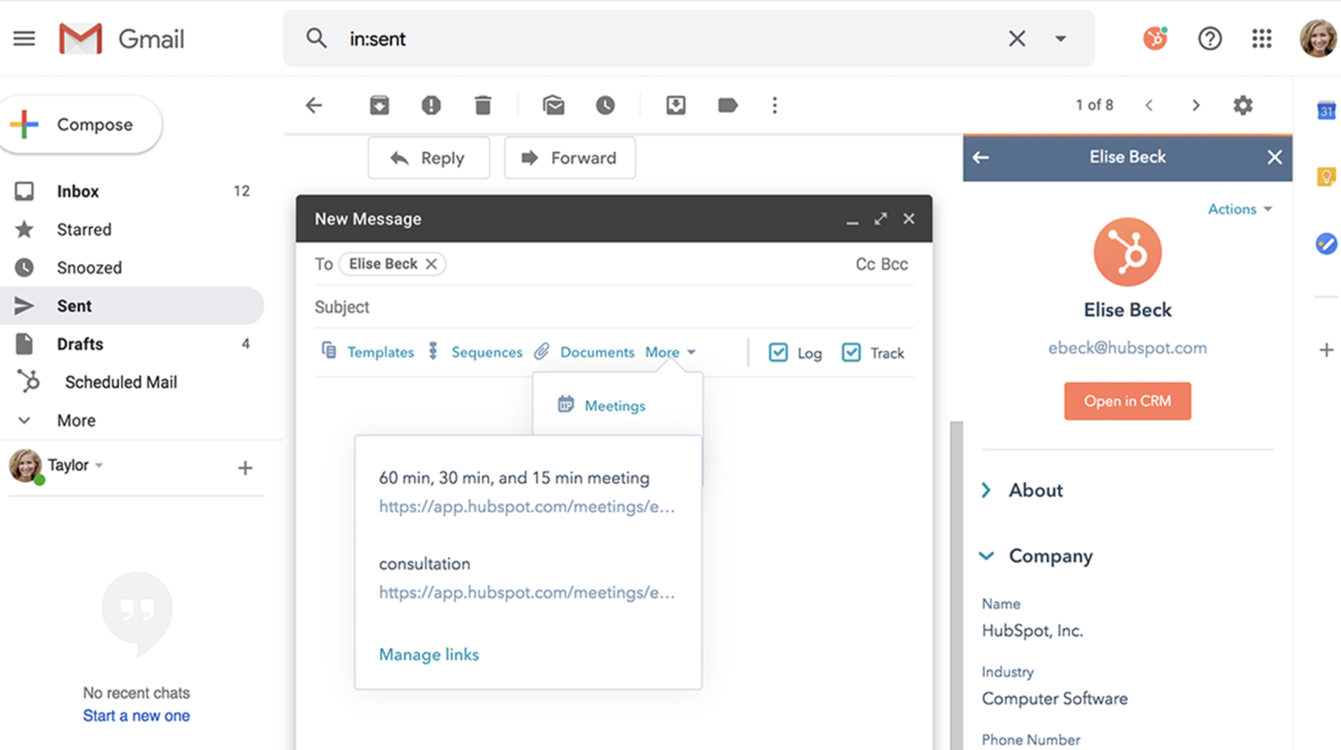Hubspot email integration 2