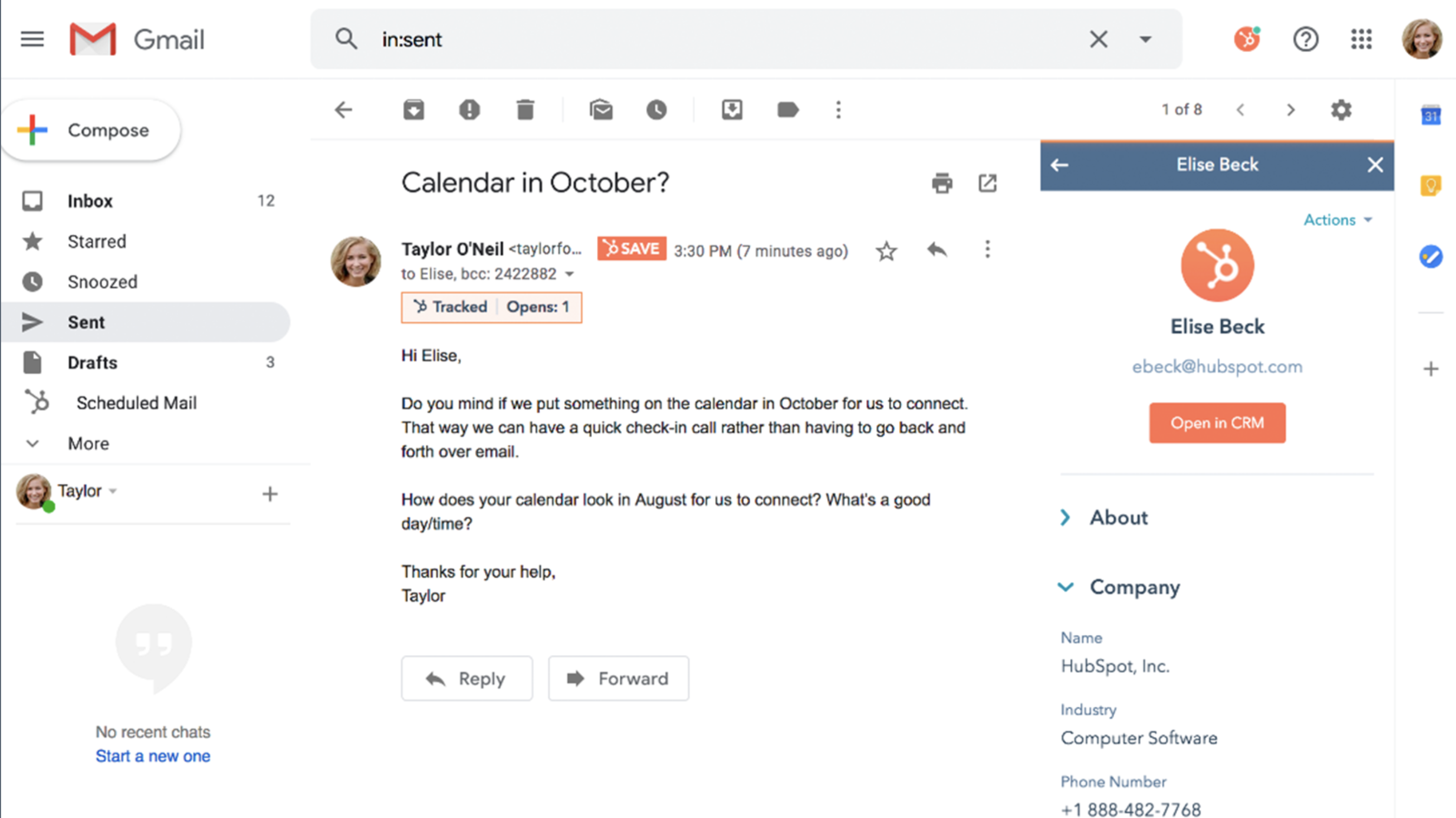 Hubspot email integration