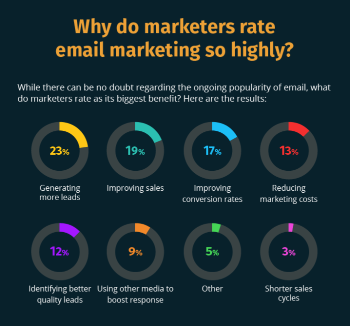 Email Marketing Benefits Infiographic