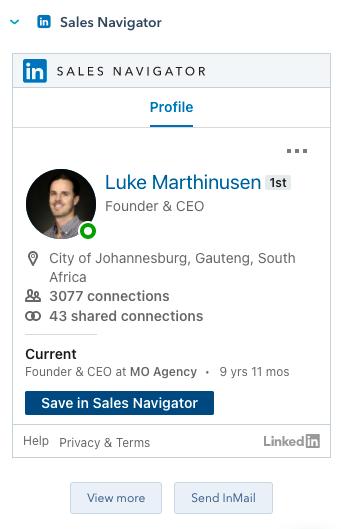 LinkedIn HubSpot integration