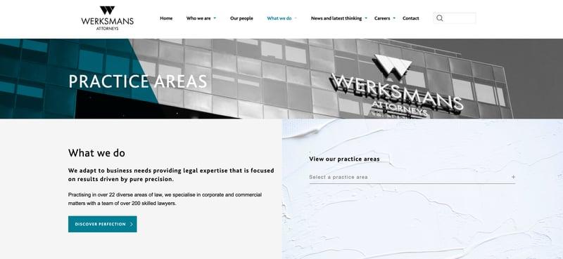 Werksmans-Practices-Page