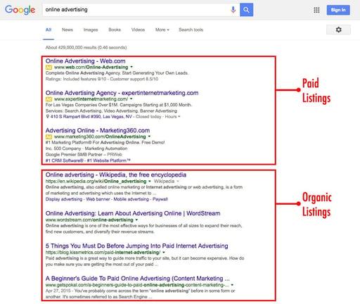 google-paid-vs-organic-search