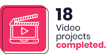 18 Video projects completed
