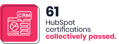 61 HubSpot certifications collectively passed