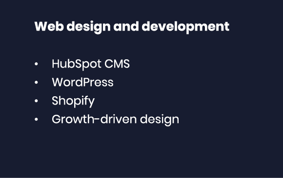 Web design and development HubSpot CMS WordPress Shopify Growth-driven design